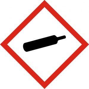 Pictogramme danger - Gaz sous pression